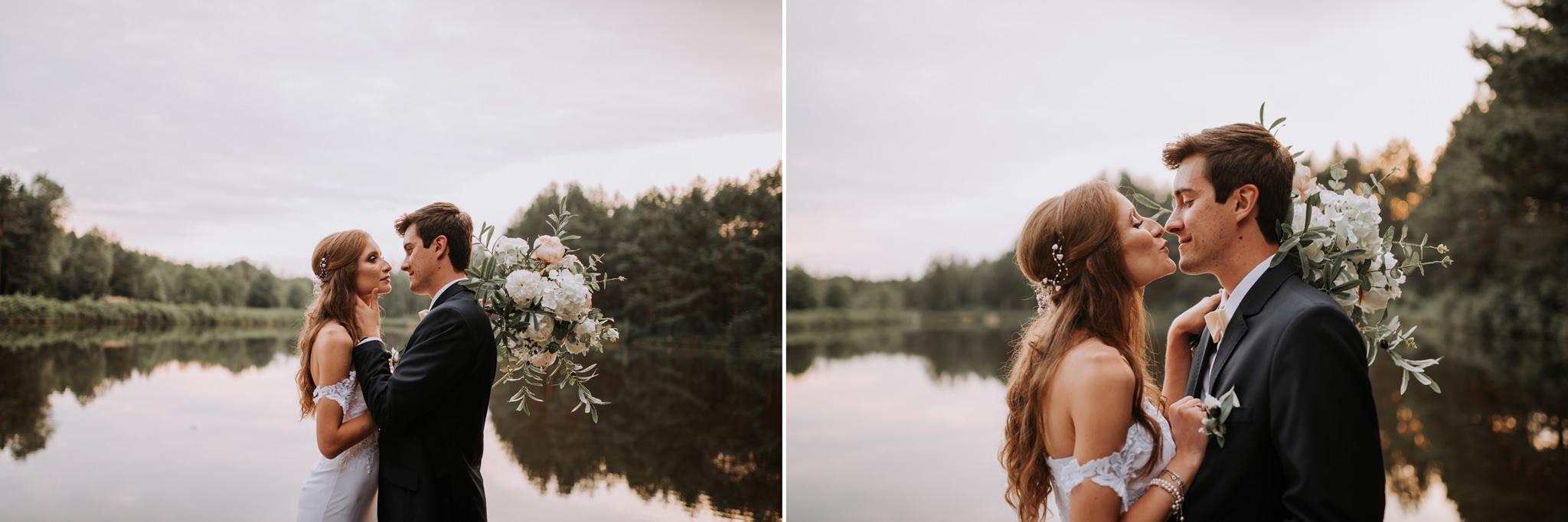 para młoda na sesji ślubnej fotograf ślubny kielce magia